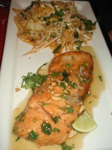 big bowl salmon pad thai